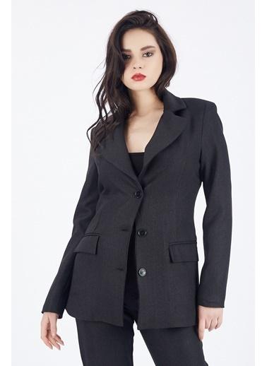 Sense Sense  Önü Düğmeli Astarlı Ceket  Ckt  Siyah